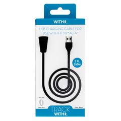 3 Foot Charging Cable for Fitbit® Alta™ by WITHit  - Black - WITHit