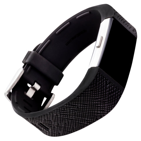 Designer Silicone Band for Fitbit Charge 2 by WITHit in Black