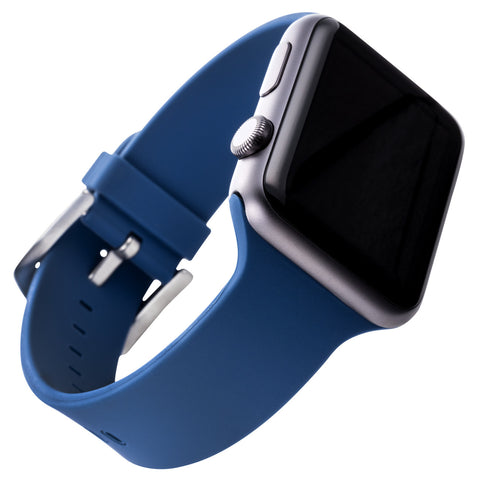 WITHit Silicone Band for 38mm Apple® Watch™ - Smooth Navy Blue