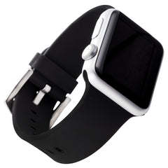 WITHit Silicone Band for 38mm Apple® Watch™ - Smooth Black