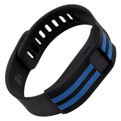 Sport sleeve designed for Fitbit Charge™  and Charge HR - WITHit Black with Blue Stripe