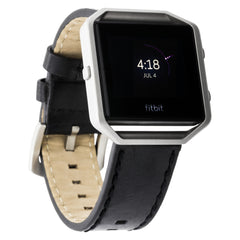 WITHit Italian Leather Strap for Fitbit Blaze - Black Belting Leather