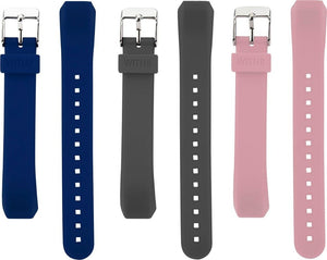 Designer Silicone Bands for Fitbit Alta & Alta HR by WITHit - 3 Pack in Navy, Gray and Pink