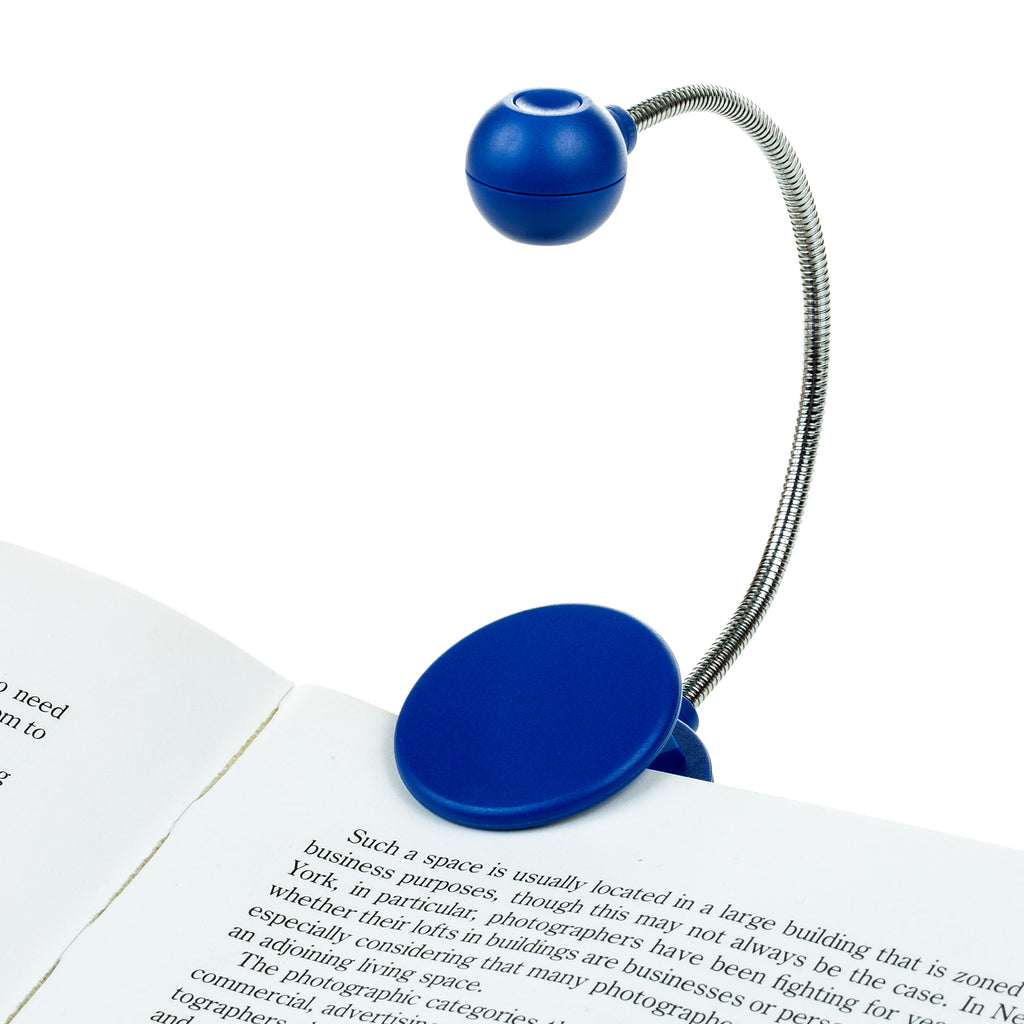 Disc Light, Blue, Chrome Neck Book Light by WITHit