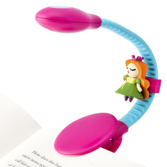 Rechargeable Reading Light by French Bull - Pink and Light Blue Princess Sculpt