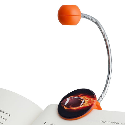 Disc Light, Sports, Football Orange and Black by WITHit