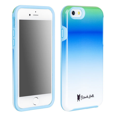 iPhone 6/iPhone 6s Dual Layer Protective Cover by French Bull - Blue Ombre Pattern