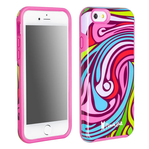 iPhone 6/iPhone 6s Dual Layer Protective Cover by French Bull - Pink and Blue Marble Pattern