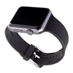 WITHit Silicone Band for 42 or 44mm Apple® Watch™ - Black Woven