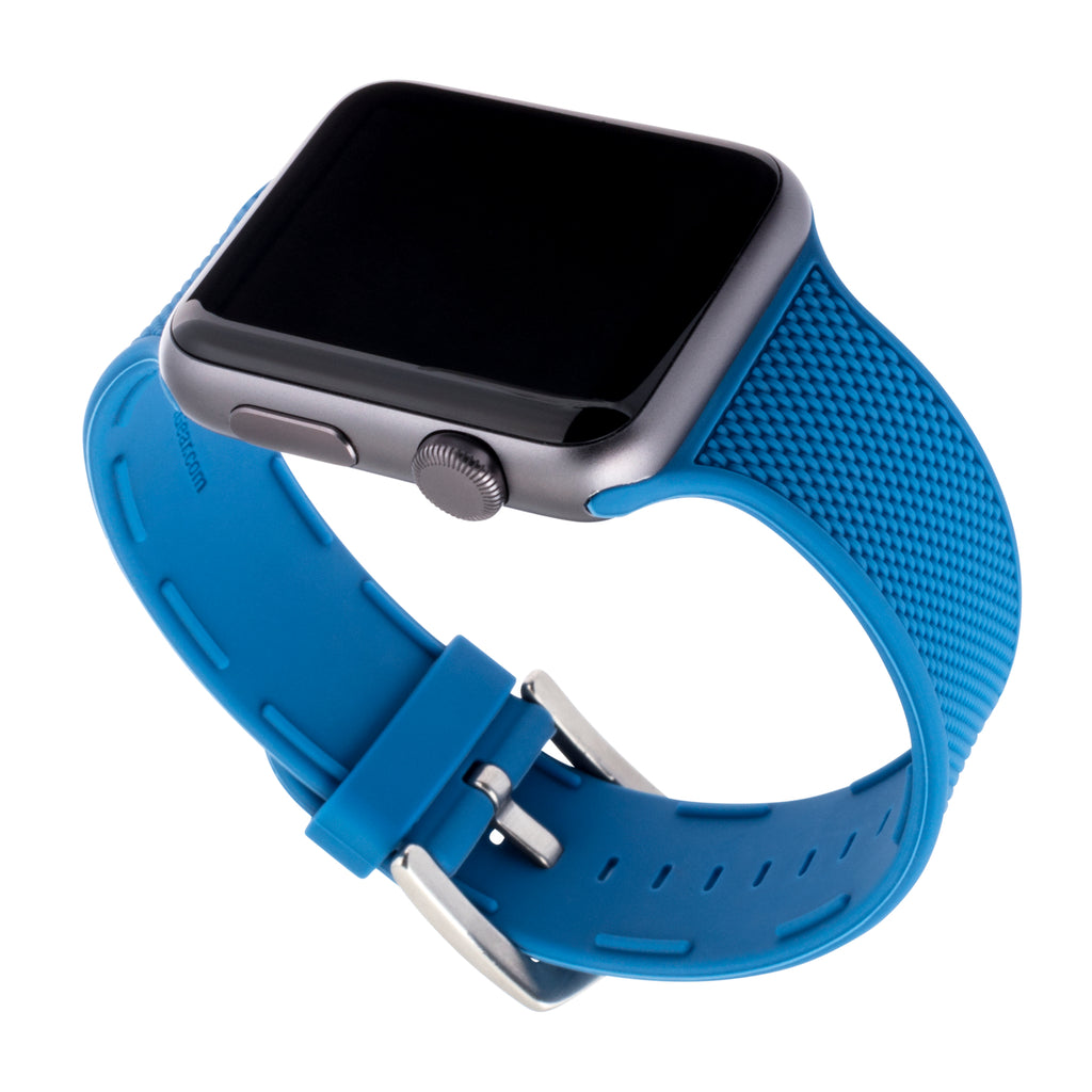 WITHit Silicone Band for 42 or 44mm Apple® Watch™ - Blue Woven