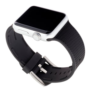 WITHit Silicone Band for 38 or 40mm Apple® Watch™ - Black Woven