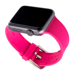 WITHit Silicone Band for 38 or 40mm Apple® Watch™ - Pink Woven