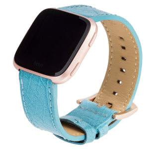 Designer Band for Fitbit Versa and Versa 2 by WITHit in Leather - Blue Buffalo