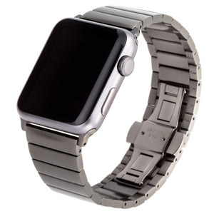 WITHit Stainless Steel Link Band for 42 or 44mm Apple® Watch™ - Space Gray