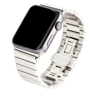 WITHit Stainless Steel Link Band for 38 or 40mm Apple® Watch™ - Silver