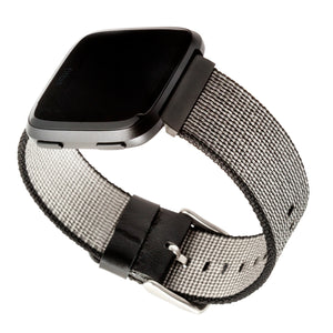 Designer Nylon Band for Fitbit Versa Series by WITHit in Black
