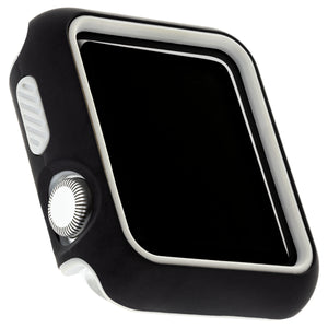 WITHit Two Piece Protective Bumper for the 38mm Apple® Watch™ - Black/Gray