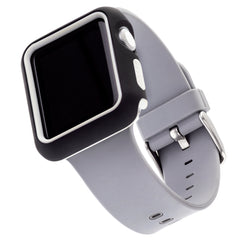 WITHit Two Piece Protective Bumper for the 40mm Apple® Watch™ - Black/Gray