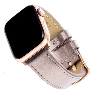 WITHit Leather Band for 38 or 40mm Apple® Watch™ - Bronze/Taupe