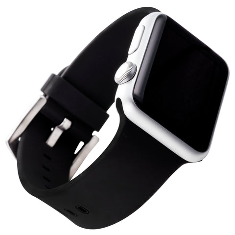 WITHit Silicone Band for 38 or 40mm Apple® Watch™ - Black