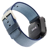 Designer Nylon Band for Fitbit Versa Series by WITHit in Blue