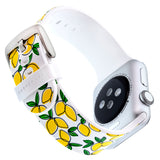 Designer Silicone Band for 38 or 40mm Apple® Watch™ by Dabney Lee - Lemony