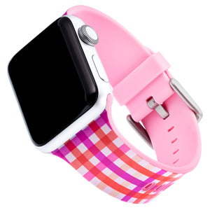 Designer Silicone Band for 38 or 40mm Apple® Watch™ by Dabney Lee - Gingham