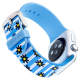 Designer Silicone Band for 38 or 40mm Apple® Watch™ by Dabney Lee - Flower Child