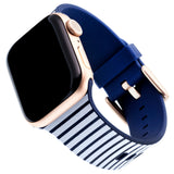 Designer Silicone Band for 38 or 40mm Apple® Watch™ by Dabney Lee - Cabana
