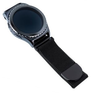 Designer Mesh Band for Samsung Universal 20mm Smartwatch by WITHit in Black