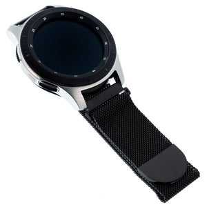 Designer Mesh Band for Samsung Universal 22mm Smartwatch by WITHit in Black