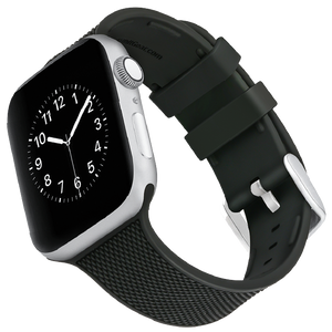 WITHit Silicone Band for 38 or 40mm Apple® Watch™ - Black Woven with 2 Keepers