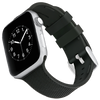 WITHit Silicone Band for 42 or 44mm Apple® Watch™ - Black Woven with 2 Keepers