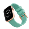 WITHit Silicone Band for 42 or 44mm Apple® Watch™ - Teal with Gold Buckle