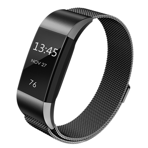 Designer Mesh Band for Fitbit Charge 2 by WITHit in Black