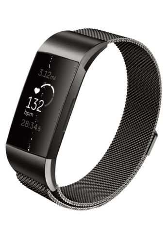 Designer Mesh Band for Fitbit Charge 3 by WITHit in Black