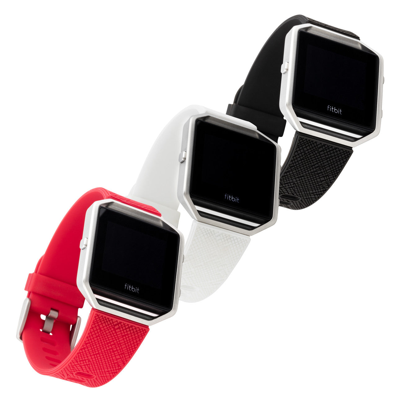 Withit Silicone Band For Fitbit Blaze In Safiano Pattern Red