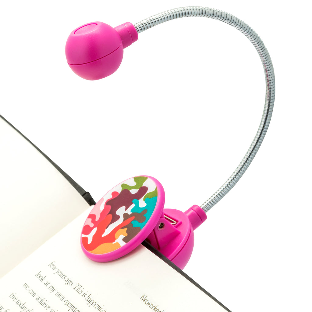 LED Disc Book and Reading Light by French Bull - Pink Glamo
