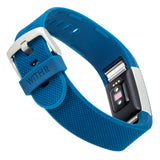 Designer Silicone Band for Fitbit Charge 2 by WITHit in Blue Woven