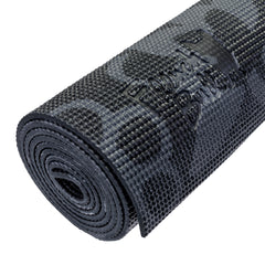 French Bull 5MM Premium Yoga and Fitness Mat - Black and White Vine