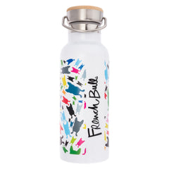 French Bull Stainless Steel Insulated Water Bottle - Happy Terrazzo White