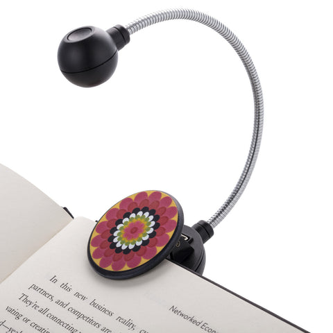 LED Disc Book and Reading Light by French Bull - Mosaic Flower