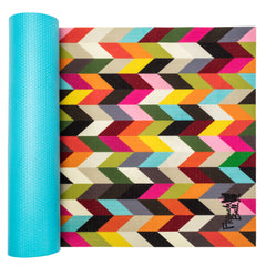 French Bull 5MM Premium Yoga and Fitness Mat - Condensed Ziggy