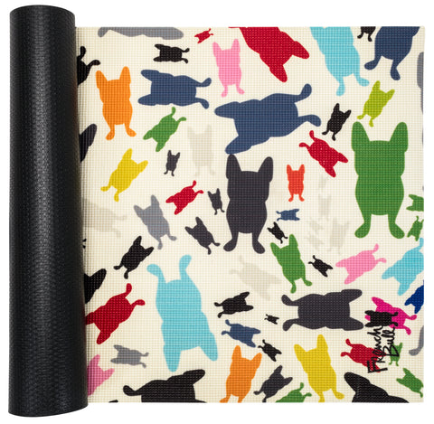French Bull 5MM Premium Yoga and Fitness Mat - Happy Terrazzo