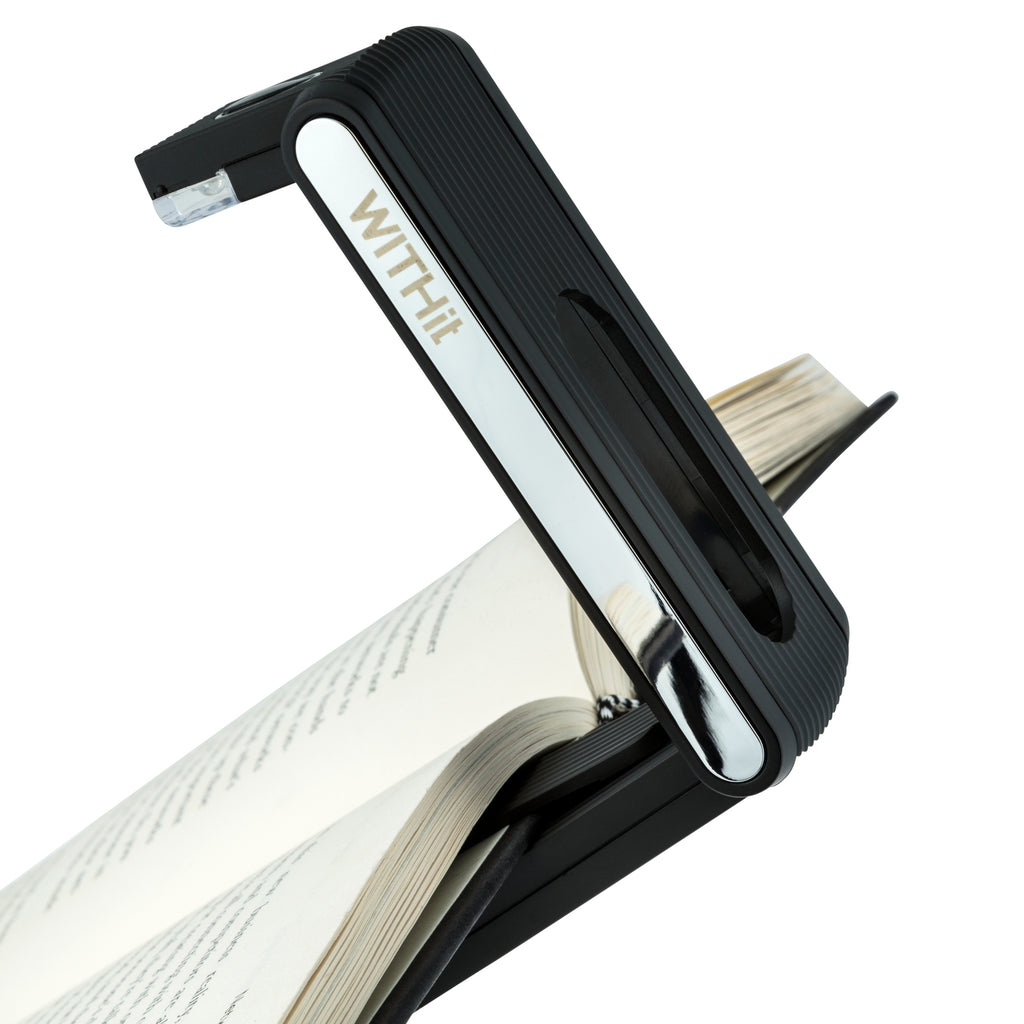 WITHit Fold Light, Black, Rechargeable Reading Light