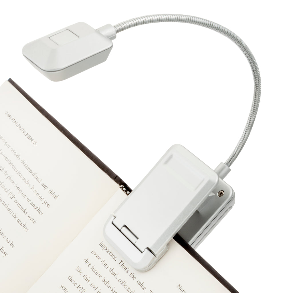 Quad 4 LED Reading Light by WITHit - Silver
