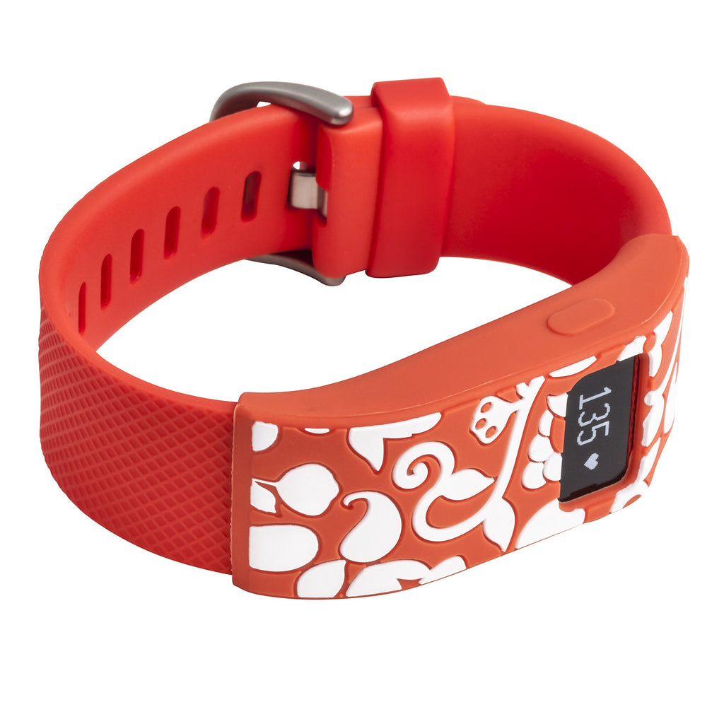 Designer sleeve designed for Fitbit Charge™ and Charge HR - French Bull Vine Tangerine