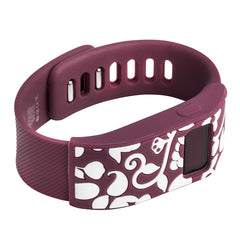 Designer sleeve designed for Fitbit Charge™ and Charge HR - French Bull Vine Burgundy/Maroon