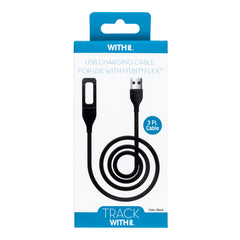 3 Foot Charging Cable for Fitbit® Flex™ by WITHit  - Black