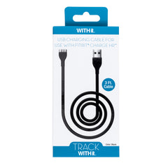 3 Foot Charging Cable for Fitbit® Charge-HR™ by WITHit  - Black